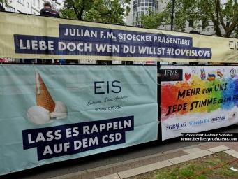 Christopher Street Day 2017 in Berlin 23.07.2017